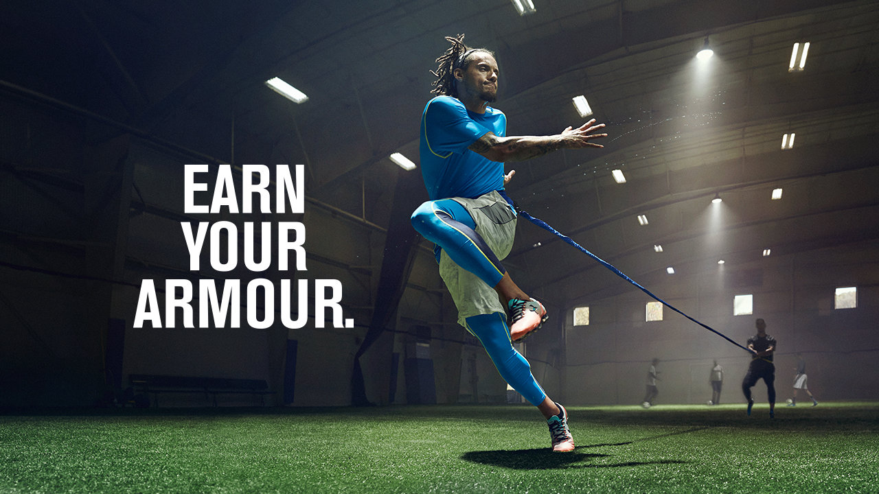 challenging athletes to earn their armour, and under armour to earn athletes' attention