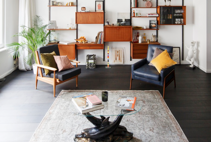 dream of californication: retro la in an antwerp loft